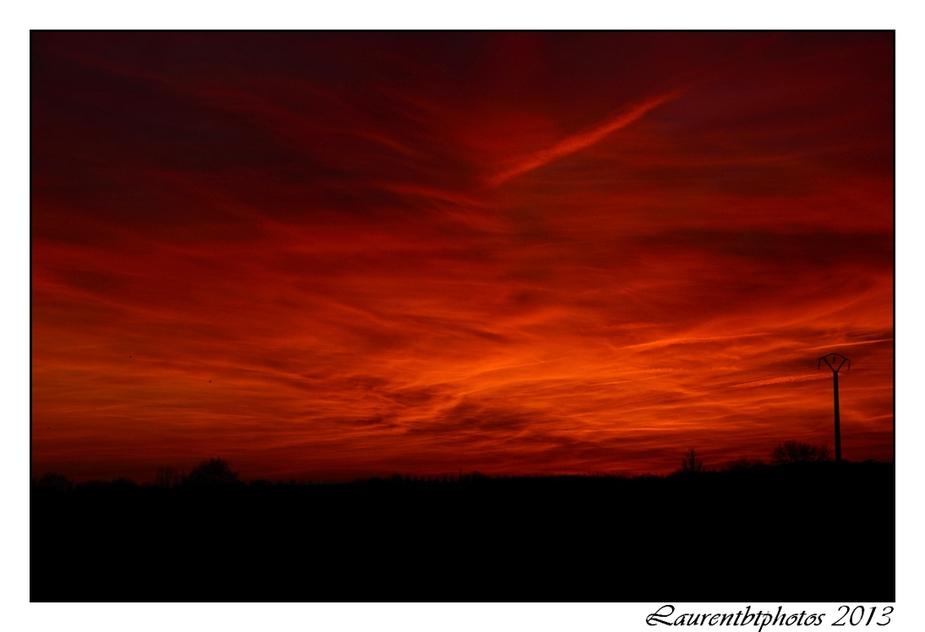 Soleil rouge!!