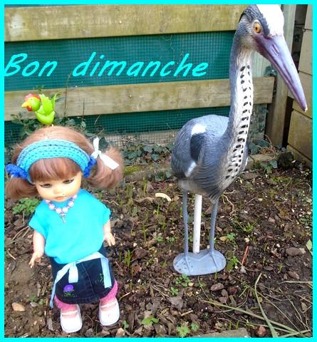 Rosalie et gros oiseau