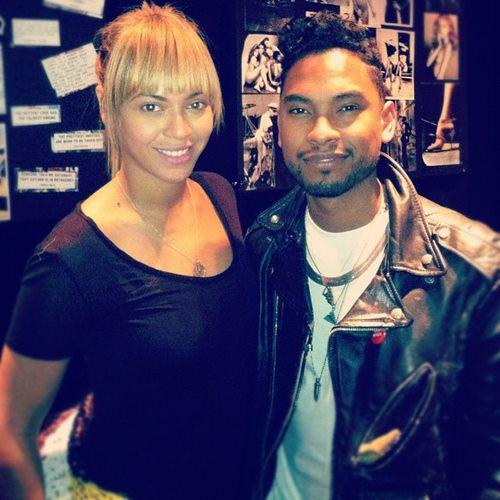 Beyoncé & Miguel in the studio !