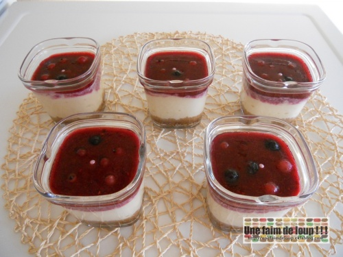 Cheesecake speculoos et coulis fruits rouges (Seb Multi Délices)