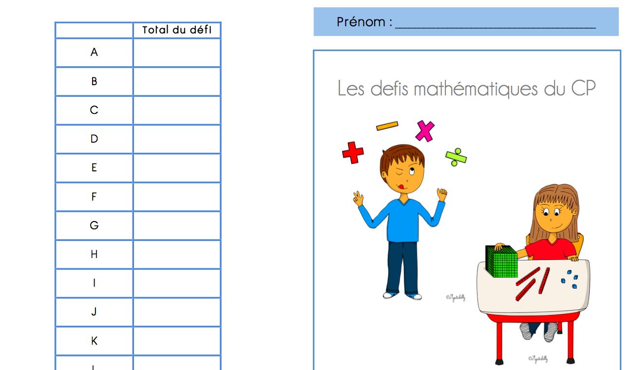Souvent Défi math CP - La classe de Frisettes IA21