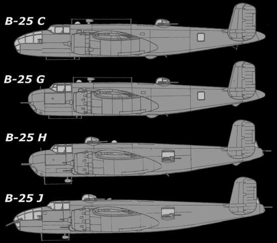 versions du b25