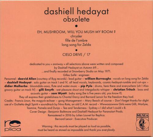 Chefs d'oeuvre oubliés # 36 : Dashiell Hedayat - Obsolete (1971)