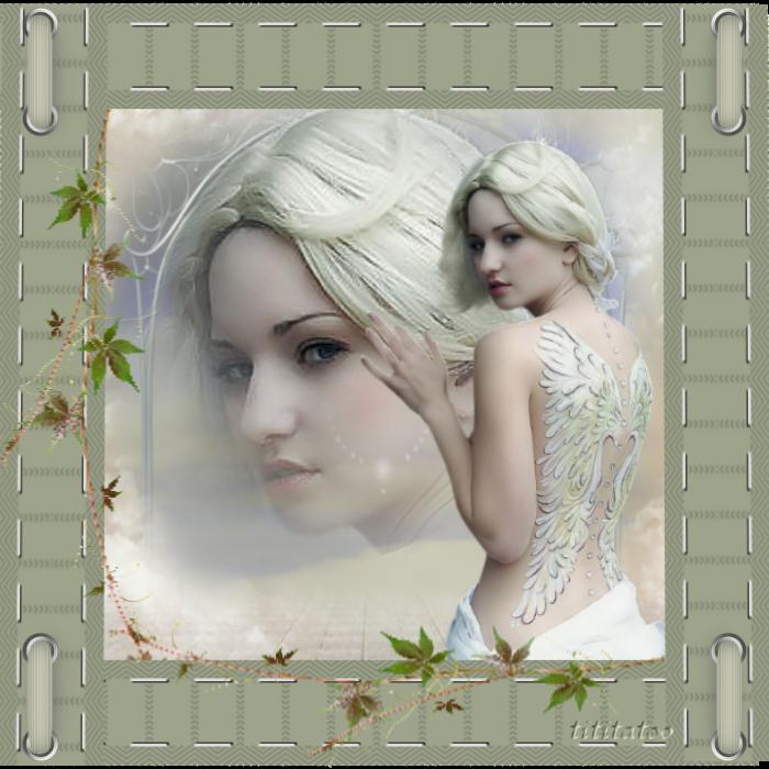 défi à la carte fees, anges, femme aux ailes tatouées