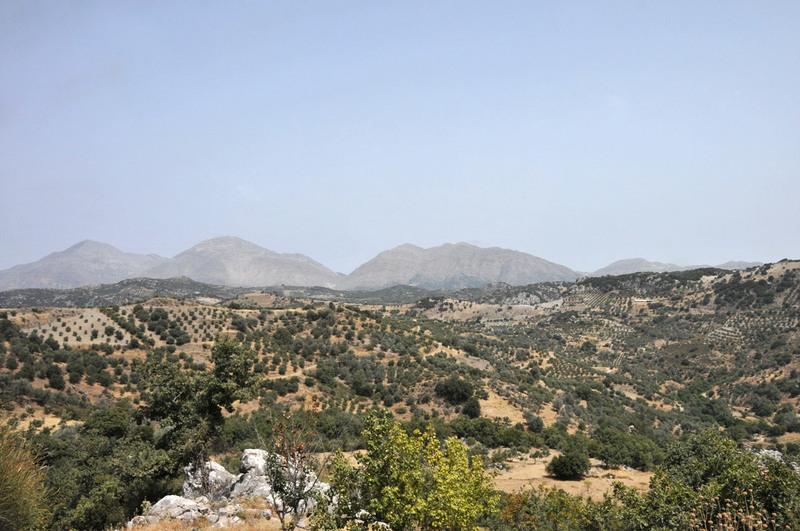 paysage vers Anogeia