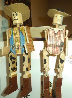 Un cowboy en bois