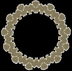 motifs dentelle bronze vert