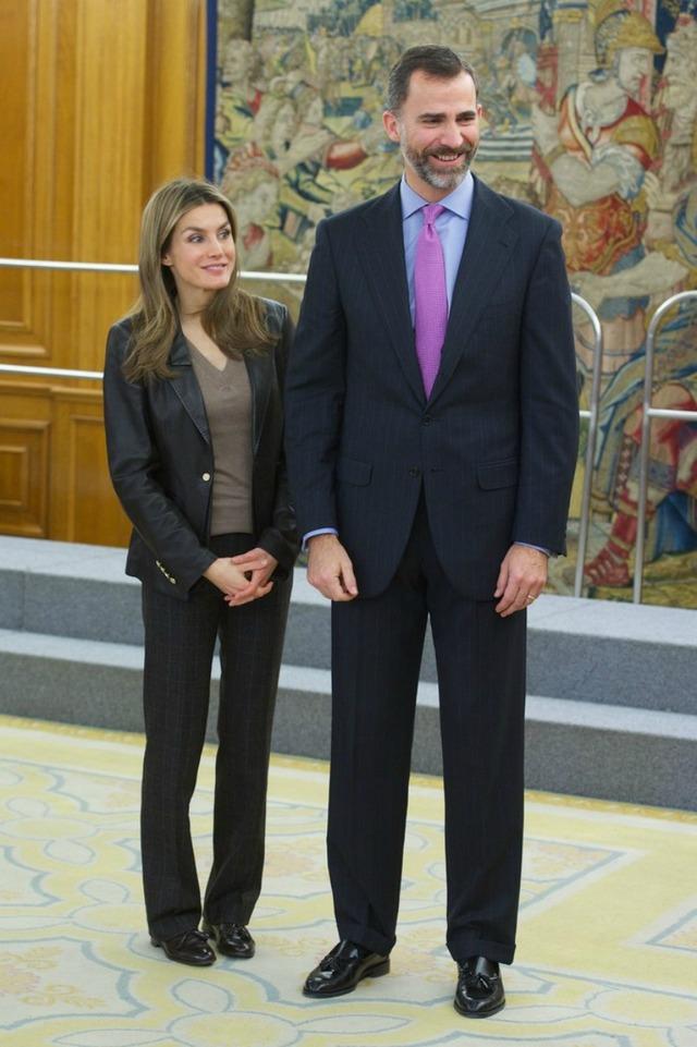Letizia et Felipe reçoivent