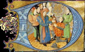 Charles d'Orléans, reçoit l'Hommage d'un vassal