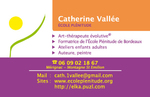carte de visite Catherine Vallée/école Plénitude