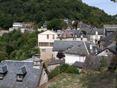 Vue du village depuis le château