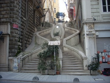 Offrir un magnifique escalier à sa ville ...