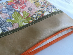 Pochette liberty mauvey orange, simili or cuivré 2