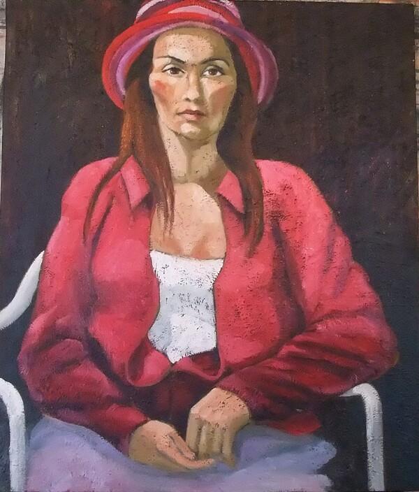 Lundi - Un coup d'oeil dans le rétro : Jeune femme au chapeau