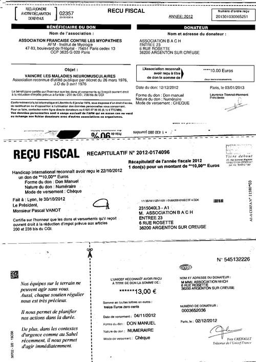 Reçu1  Dons association BACH