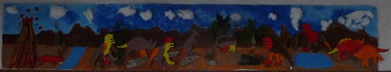 Fresque des dinosaures