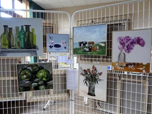 Les peintres à Moitron en 2013...