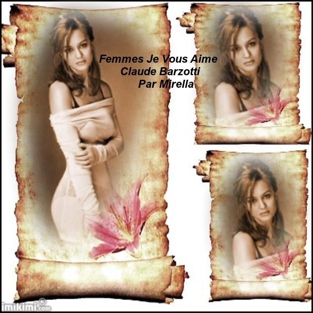 Femmes Je Vous Aime    Claude Barzotti   Par Mirella