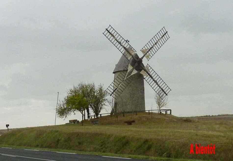 Découverte de moulins à Jonzac.