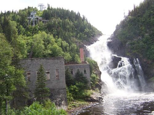 Le site du village fantôme de Val Jalbert au Lac-Saint-Jean en août 2006