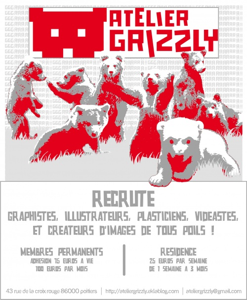 Atelier Grizzly recrute !