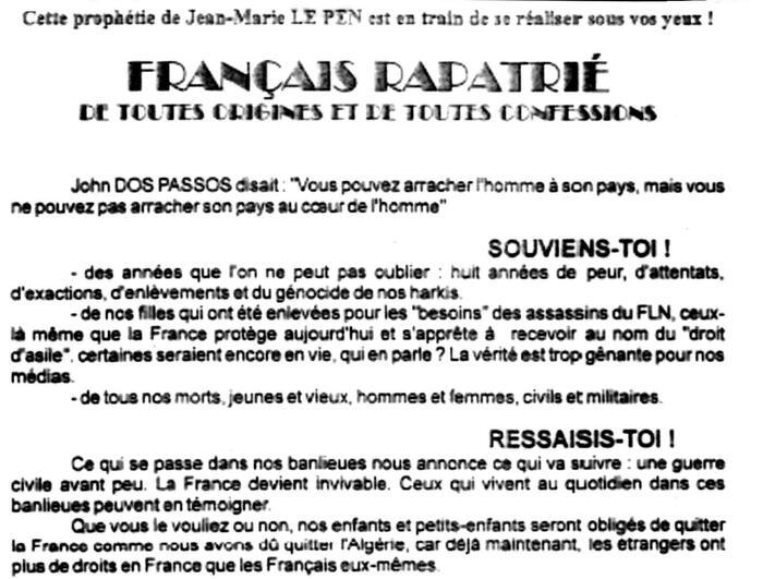 Algérie française : les retours  du refoulé (4/5) + Commentaires