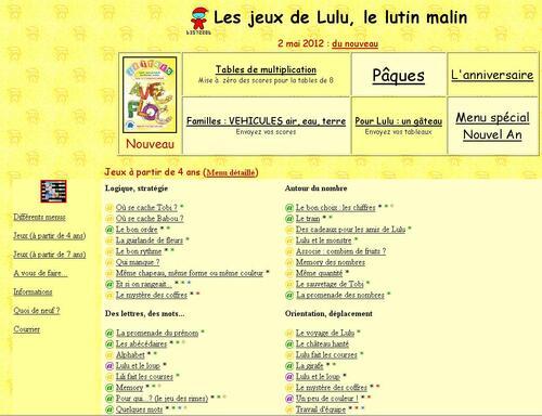 visitez Les jeux de Lulu