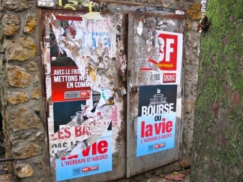 affiche politique bourse ou la vie