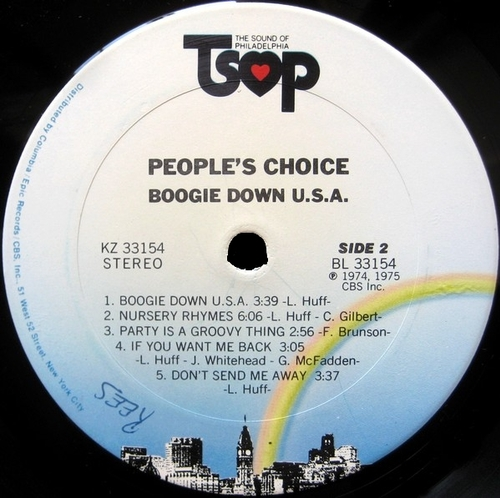 "1975 : The People's Choice : Album "" Boogie Down U.S.A. "" TSOP Records KZ 33154 [ US ]"