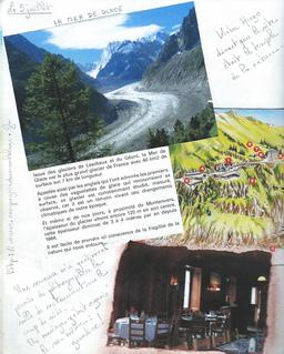 Chamonix et le glacier des Bossons