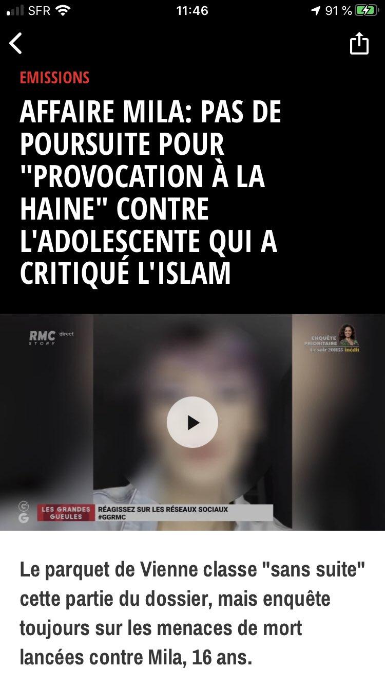 """Affaire Mila une adolescente lynchée par les """"bien-pensants"""""""