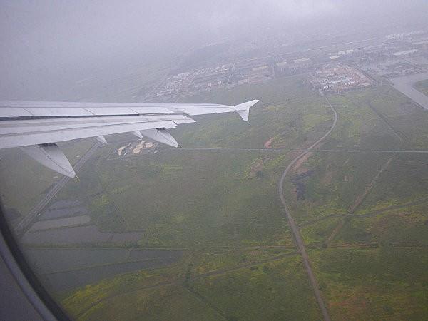 Vol Boa Vista-Paris on décolle de Casa sous la pluie