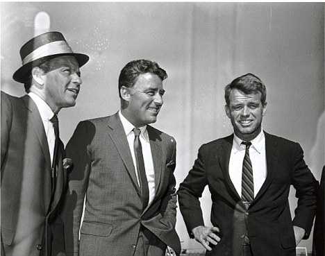 Robert Kennedy, Peter Lawford and Frank Sinatra