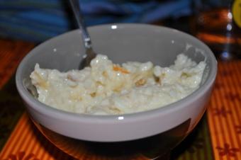 Riz au lait aux zestes d'oranges