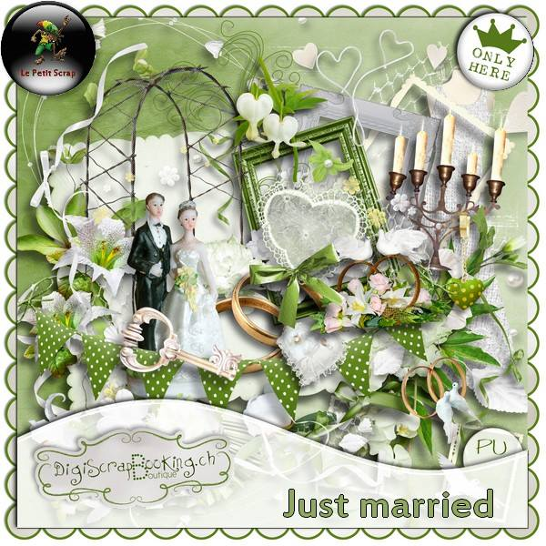 """ Just Married "" by Le petit scrap"