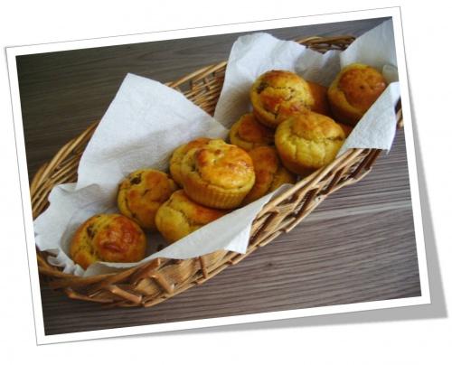 Muffins tomates séchées/parmesan