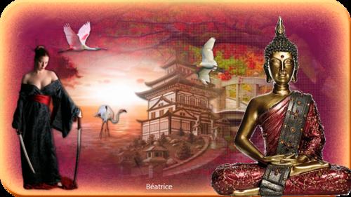 création faite avec les  Cliparts ''Orient '' de Beauty