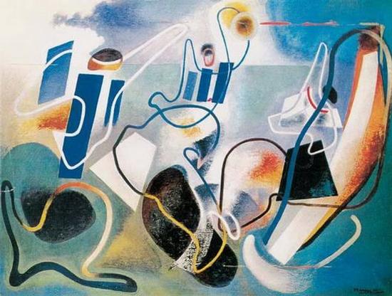 Enrico Prampolini, Anges de la terre, 1936