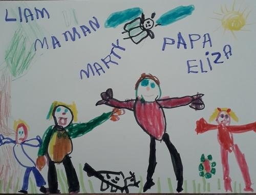 Eliza et son dessin offert