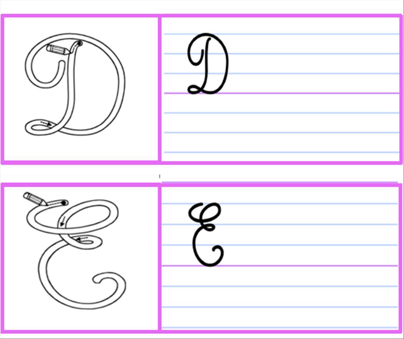 Lettres Majuscules Cursives Rugueuses Loustics