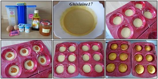Muffins moelleux à la confiture