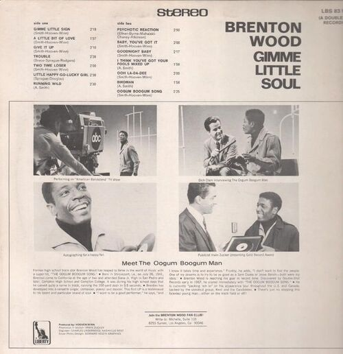"Brenton Wood : Album "" Gimme Little Soul "" Liberty Records LBS LBS 83 106 I [ GE ]"
