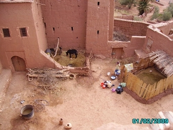 aït ben haddou - l'intérieur de  la kasbah