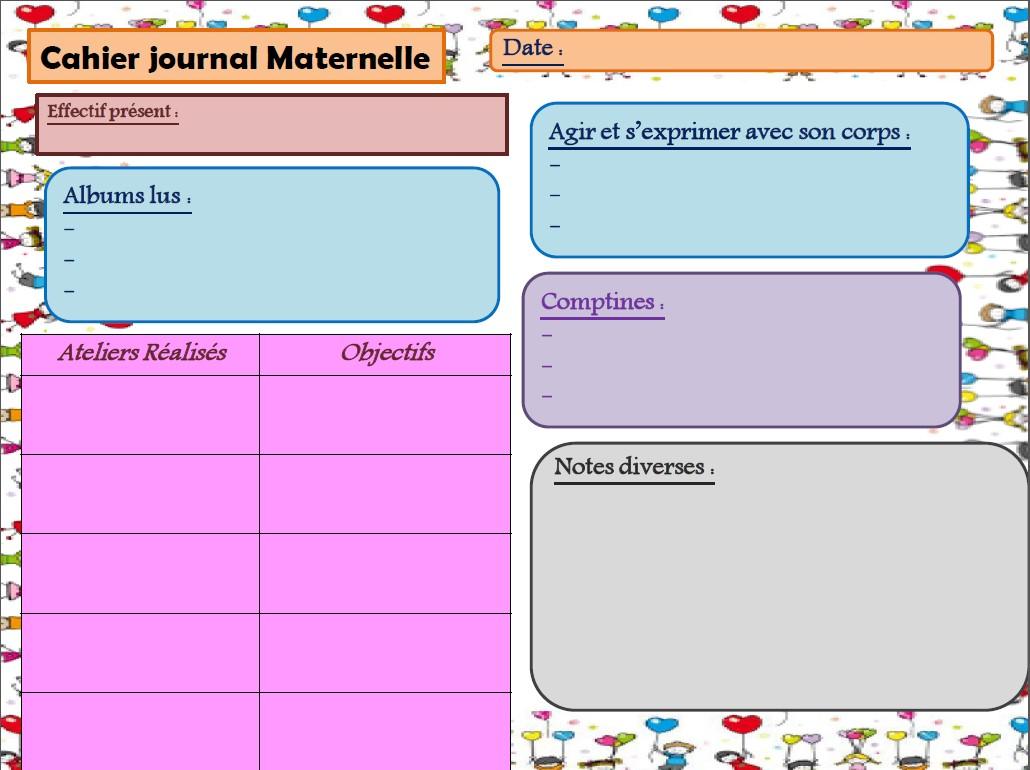 Extrem Cahier journal maternelle - LocaZil UQ31