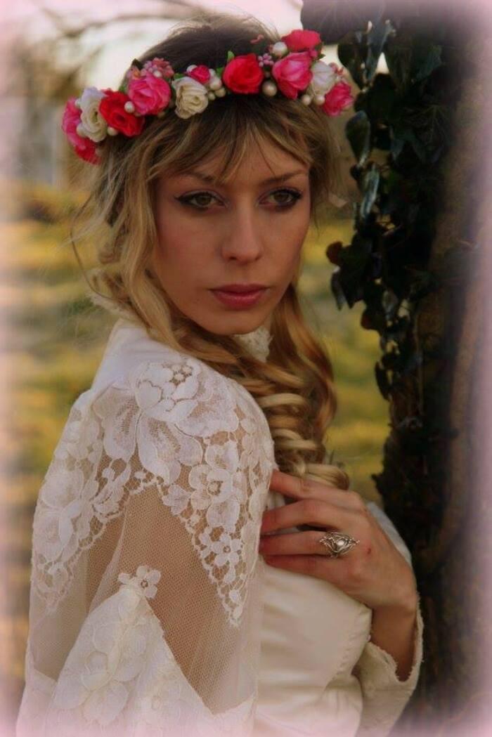 Mélusine romance, modèle et artiste goth