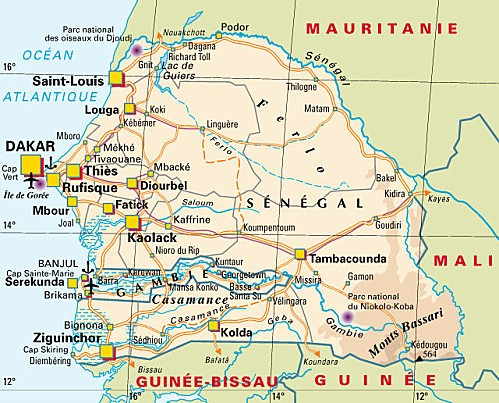 carte sénégal
