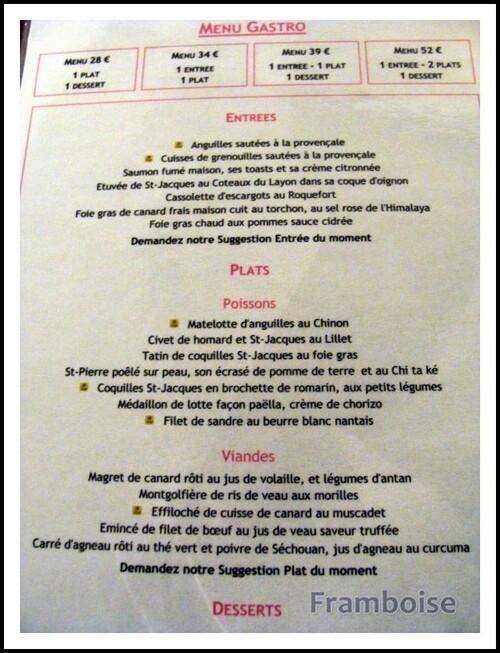 Restaurant  la CLOSERIE  Le Chemin Nantais  D 723