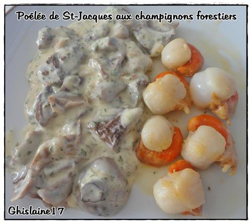 Poêlée de St-Jacques aux champignons forestiers