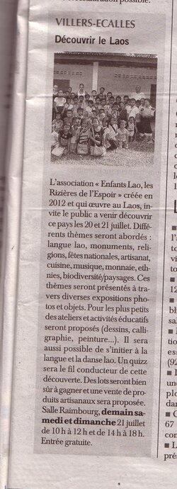 Article Paris Normandie - Juillet 2013