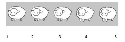 Cinq petits moutons pour apprendre à compter!